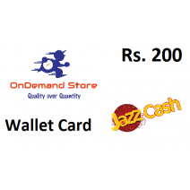 JazzCash Mobile Wallet Rs.200 - Instant Fast Delivery